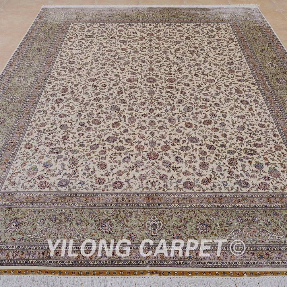 Yilong 9 x12 традиционные персидский ковер ручной работы Большой ... 001bd8c5848