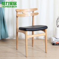 Simple and modern wood dining chairs reception chairs