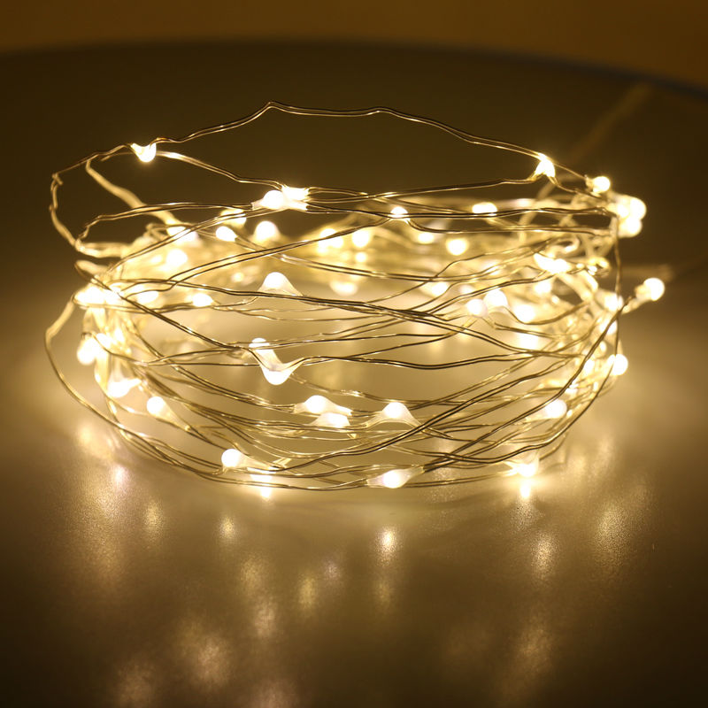 10x festival celebrate christmas light cooper wire string light battery powered lighting string for shopping mall streets decor
