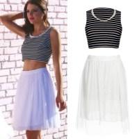 Sexy Beach Summer Dress 2015 Beads Two Piece Dress