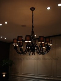 European crystal chandelier black chandelier living room ...