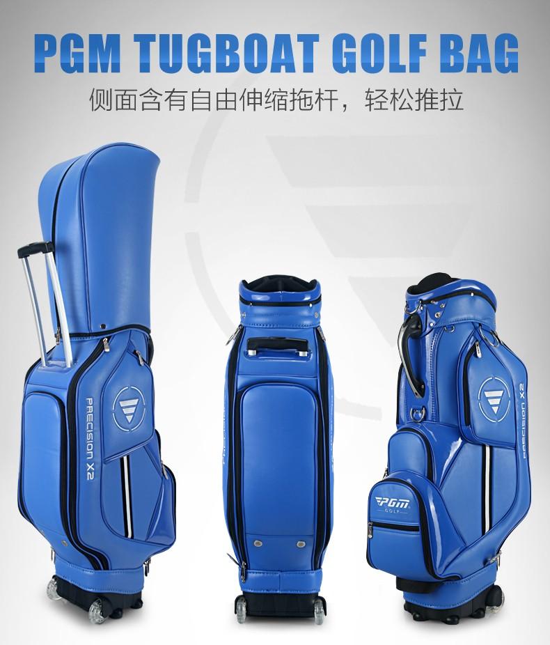 HTB1RPASKVXXXXbgaXXXq6xXFXXXU - PGM Golf travel bag wheels stand caddy airbag flight aviation aircraft high capacity golf cart bag staff golf bags Labor saving