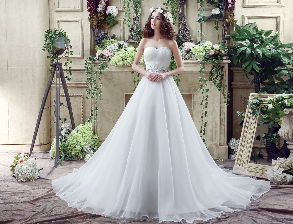100% Real Images Ball Gown Wedding Dresses Beaded Sequin Bride Gowns ...