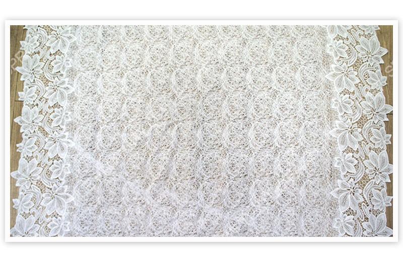 っEnvío Gratis nueva moda blanco cordón del bordado de la fibra de ...
