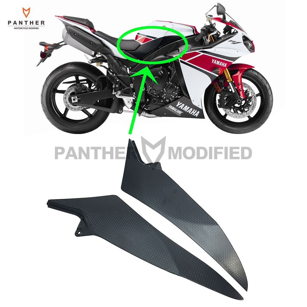 Black Motorcycle Tank Side Cover Frame Panel Fairing Trim Cowl case ...