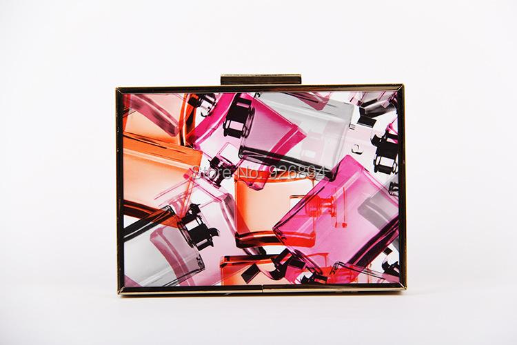 ④Envío libre nuevo color caramelo patrón geométrico partido mini ...