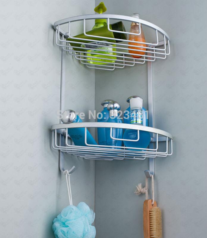 ᐃSingle Layer Bathroom Corner Shelf for Soap/Shower/Shampoo ...