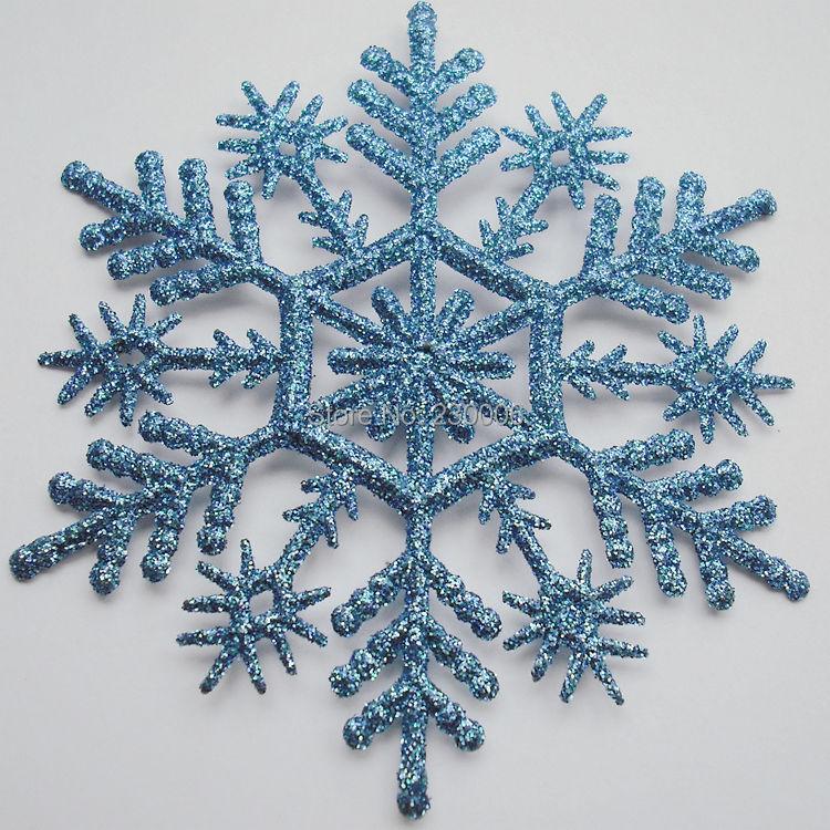 12CM Glitter snowflake christmas outdoor decoration
