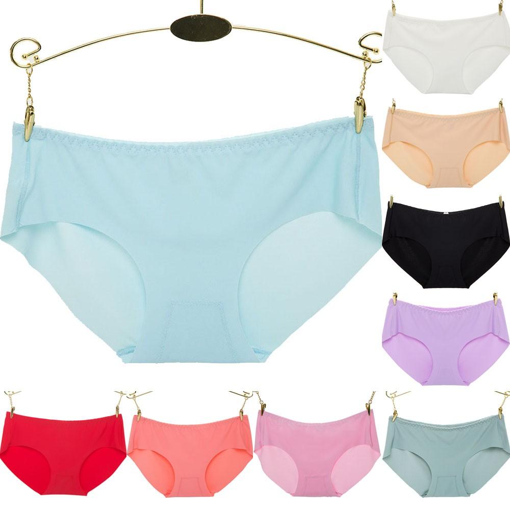 ̿̿̿(•̪ )Verano sexy Mujer Invisible Ropa interior Bragas brief color ... 1e7c778db589