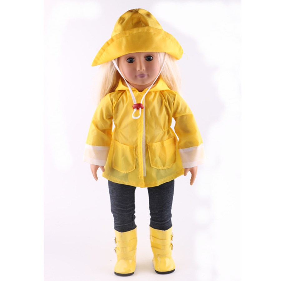 a19c42a14068b 7 color Doll Clothes for American Girl Dolls  6 Piece Rain Outfit – Includes  Rain Jacket