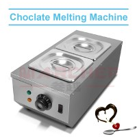 2 Trays stainless steel melting furnace hot chocolate