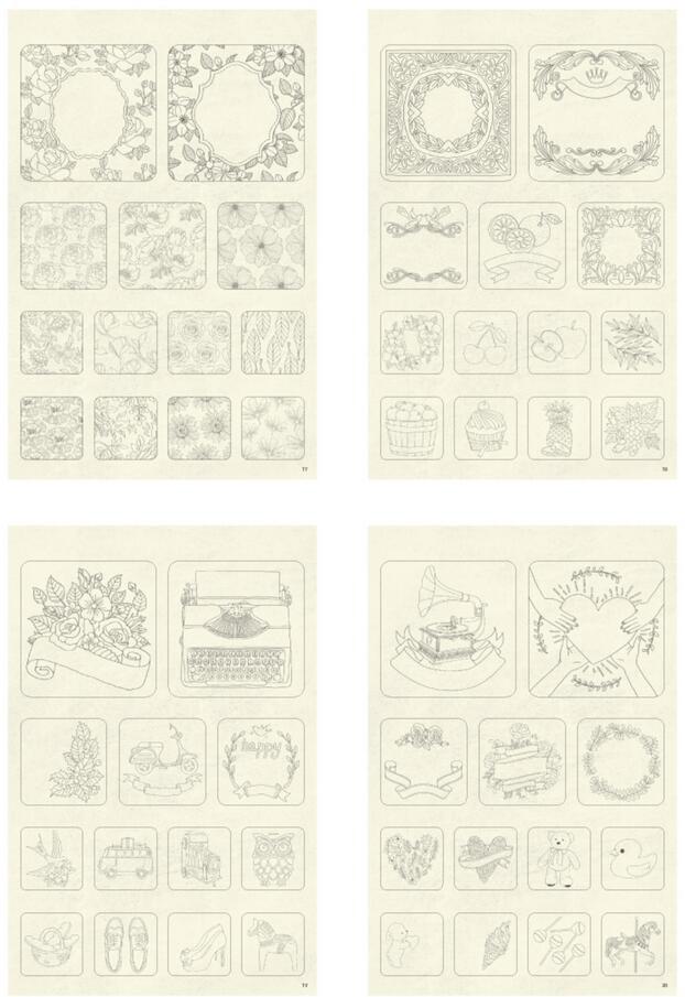ჱEtiqueta engomada creativa libro para colorear, Alambres ...