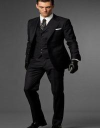 Black Suit Black Vest Dress Yy
