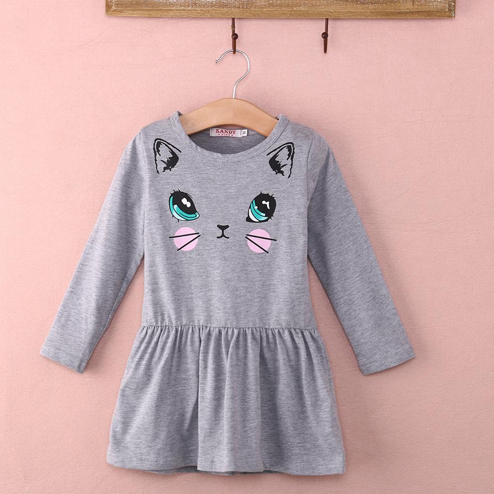 ⑤Niñas bebé niños otoño primavera ropa gato manga larga princesa ...