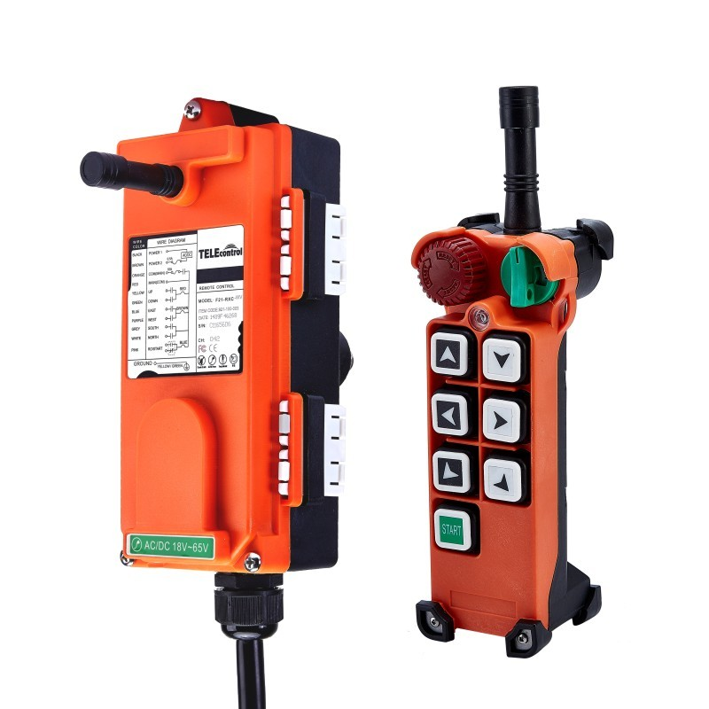 Calvas Telecontrol F21-4S industrial radio remote control AC//DC universal wireless control for crane 1transmitter and 1receiver Color: 18to65V VHF310to331