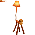 HGhomeart Striped cloth cartoon monkey floor lamps creative standing lamp for children s bedroom