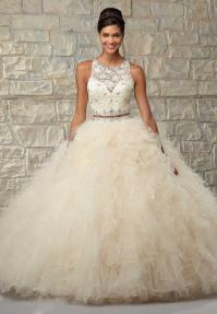 Two Piece Sweet 16 Dresses White Quinceanera Dresses Ball ...