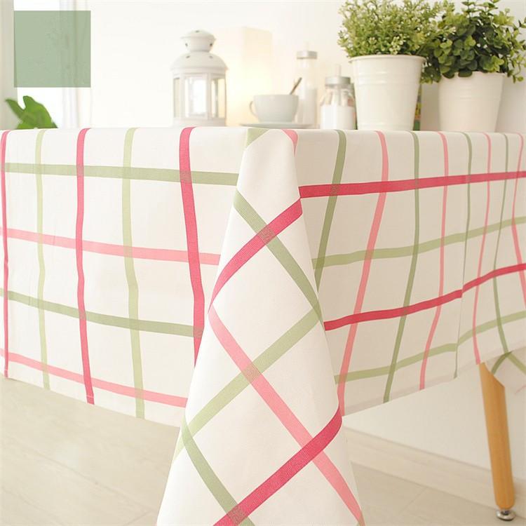 ツ)_/¯Decoración del hogar moderno manteles verde rosa a cuadros ...