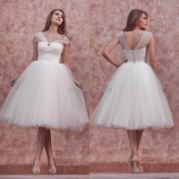 ONW763 Cap Sleeeve Puffy Tulle Knee Length Andrey Hepburn ...