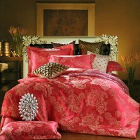 Polyester/cotton twill jacquard bedding set. queen and