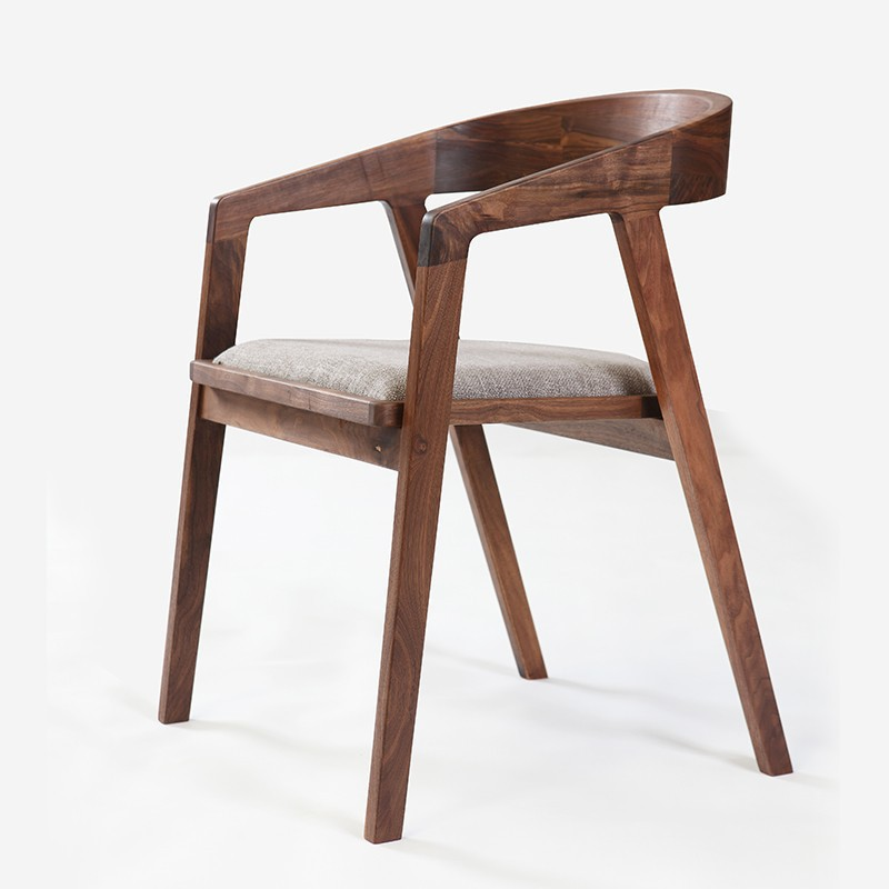 Simple and modern furniture/ walnut dining chair/ fabric