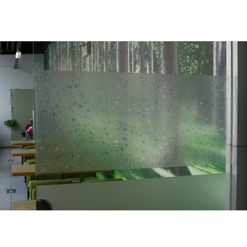 45x100cm 3D Static Cling Removable Window Film Decorative