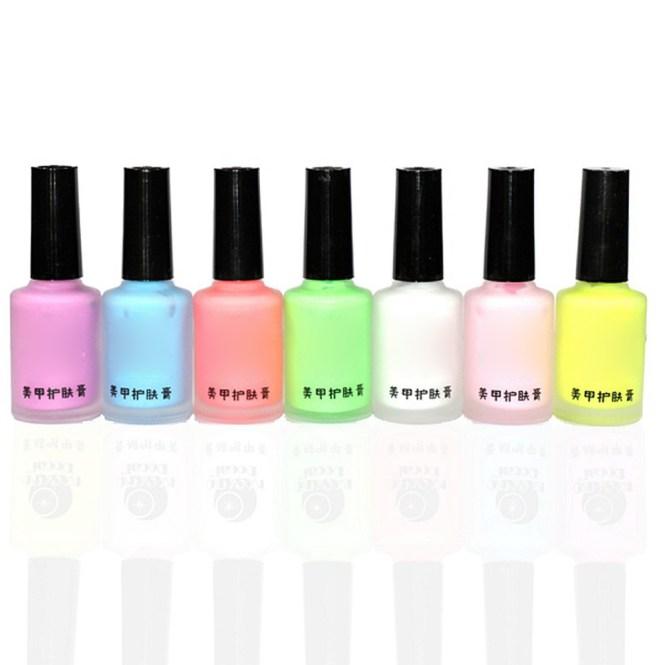 10 Pcs Tips L Off Nail Art Tape Latex Finger Skin Protected Liquid Palisade