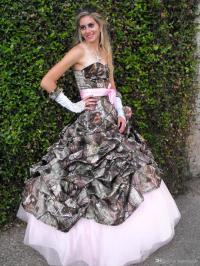 Printing Pink Camo Wedding Dresses 2015 New Styles ...