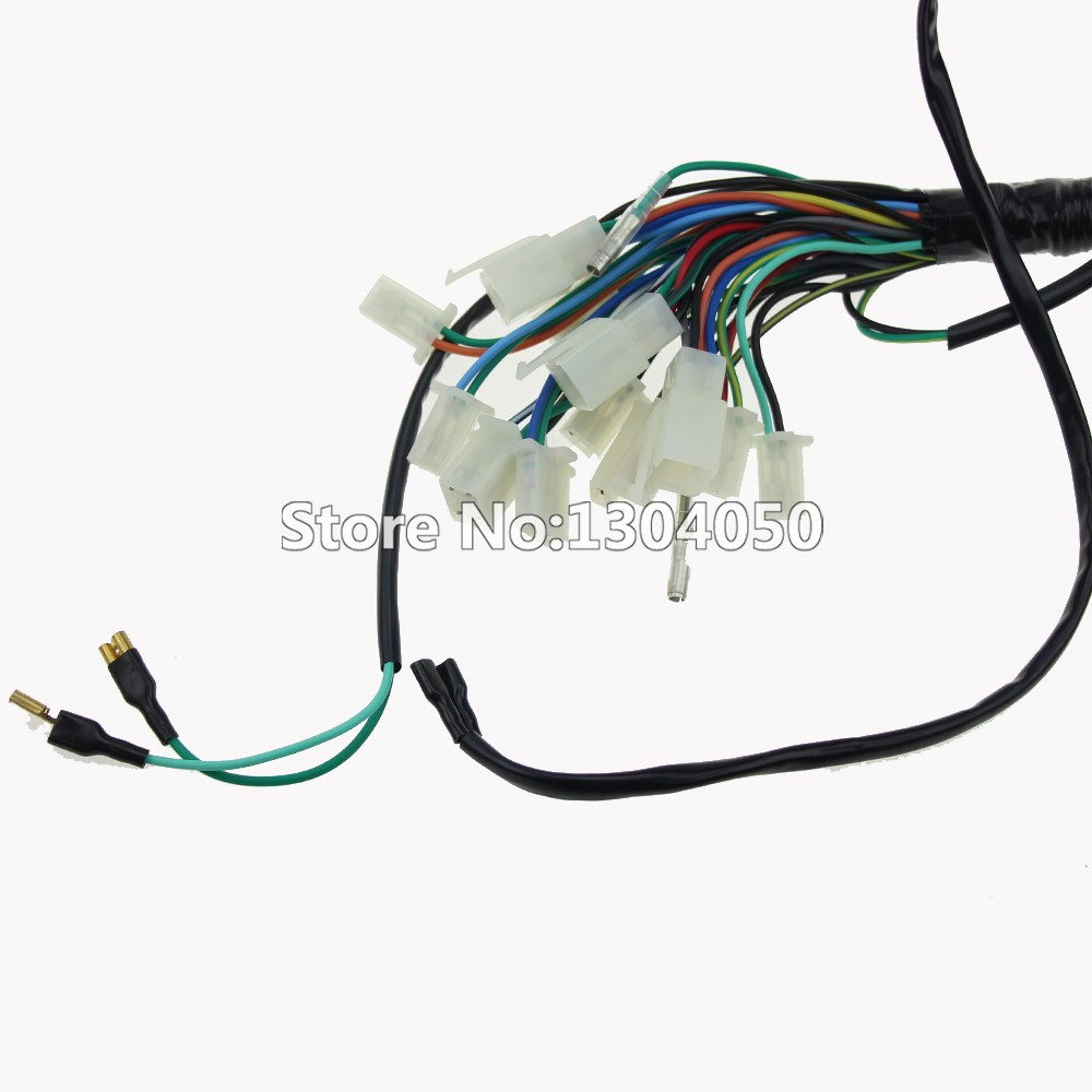 Quad Wiring Harness 70cc 110cc Chinese Electric Start 50cc 90cc Kids Atv Color Like The Picture Show Fitment Fits For Most Quads 125cc Note 1 Please Check Carefully