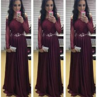 Off the Shoulder Maroon Prom Dresses 2015 New Arrival Long ...