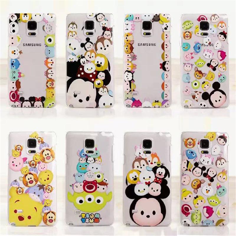 חמוד מיקי מאוס צום דייזי מייק סלים ברור TPU לטלפון המקרים כיסוי עבור Samsung Galaxy S4 S5 S6 S6Edge S7 S7Edge Note4 Note5