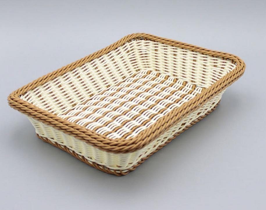 ₩Bolsas de lavandería y cestas serie PP rattan cesta de frutas y ...