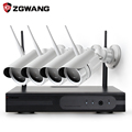 ZGWANG 4CH 1080P CCTV Wireless Surveillance System NVR Kit 2MP Outdoor Bullet Security Camera System IR