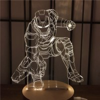 Led 3D Night Light Iron Man Home Decoration Lamp