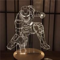 Led 3D Night Light Iron Man Home Decoration Lamp ...