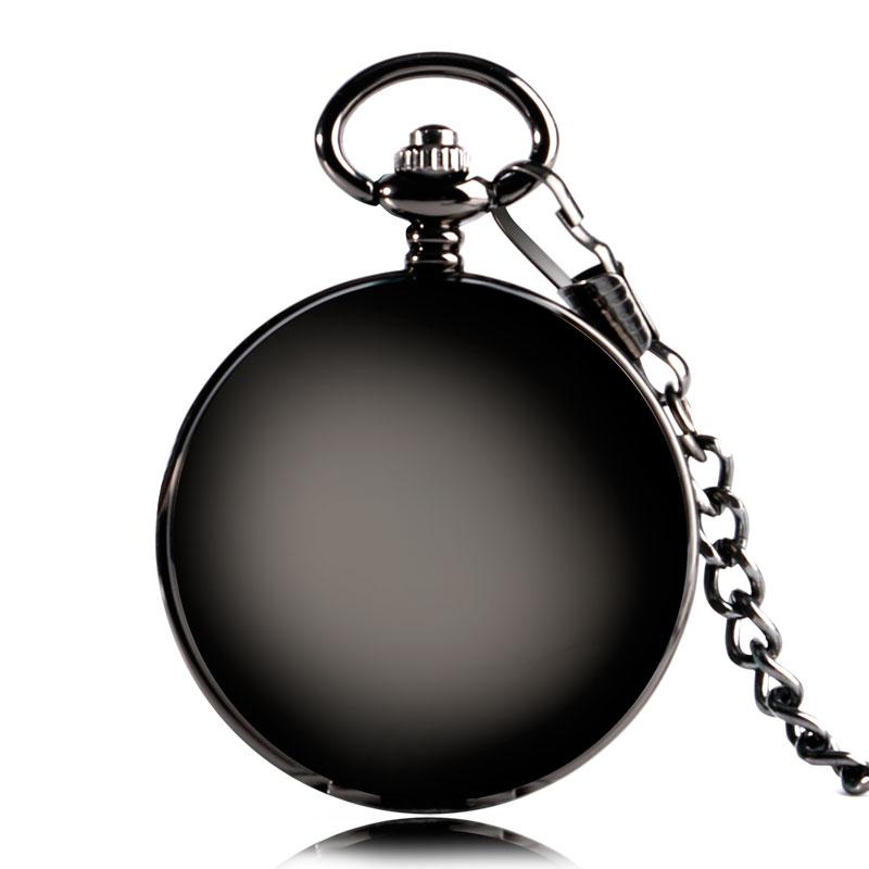 ⑤Ретро Механические карманные часы гладкой шрифтом число ...