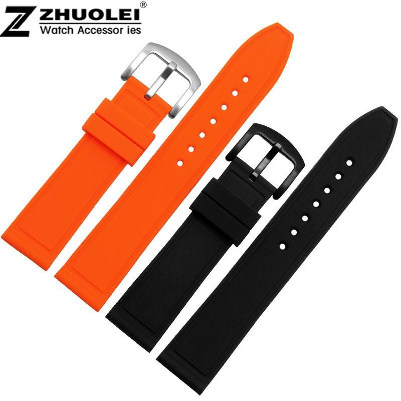 ヾ(^▽^)ノNew style silicon caoutchouc orange   noir homme femme ... dff3f16dee9a