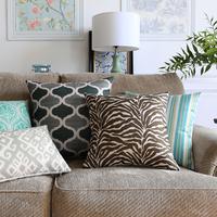 18 Square Clical Geometric Cotton Linen Cushion Cover Sofa Decor Throw Pillow Car Chair Home