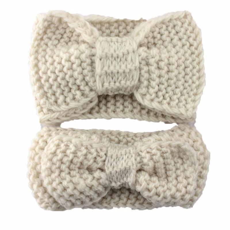 ④Hecho a mano de ganchillo diadema lana color sólido suave y cómodo ...