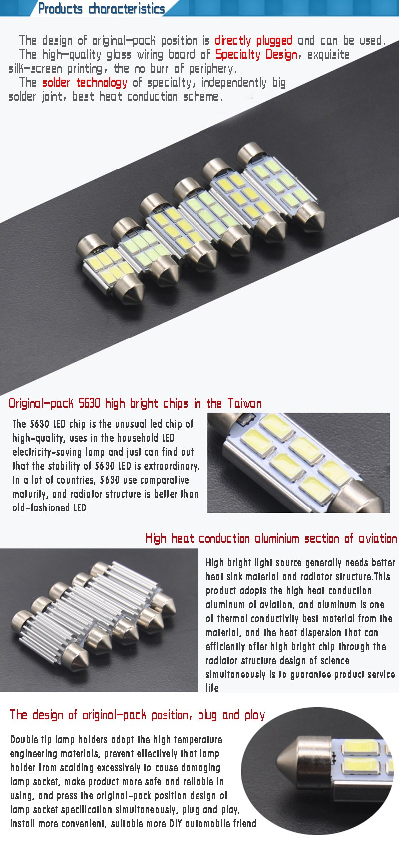 2pcs 31mm 36mm 39mm 5630led White Blue Car Interior Lights License Quality Aluminum Printed Circuit Board Widely Used For Led Plate Light Bulb Dome Festoon Lamp Source 12v 2x