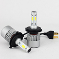 2 PCS Car Headlight Bulb Hi Lo Beam COB LED Headlights 72W 8000LM 6500K Auto Headlamp