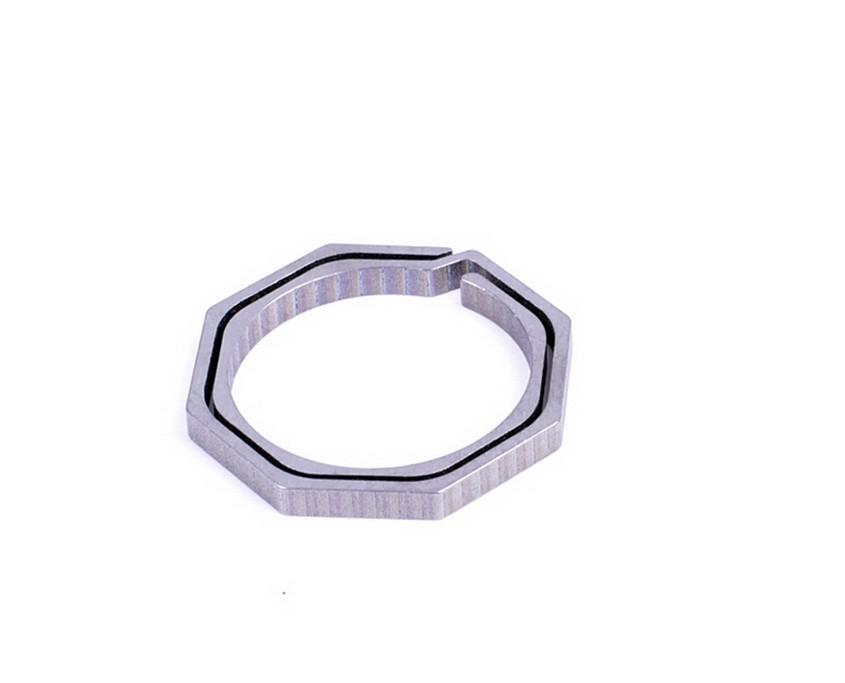 fcb3b66537486 ᓂ100% titanium fivela pendurado chaveiro octógono todo e qualquer ...