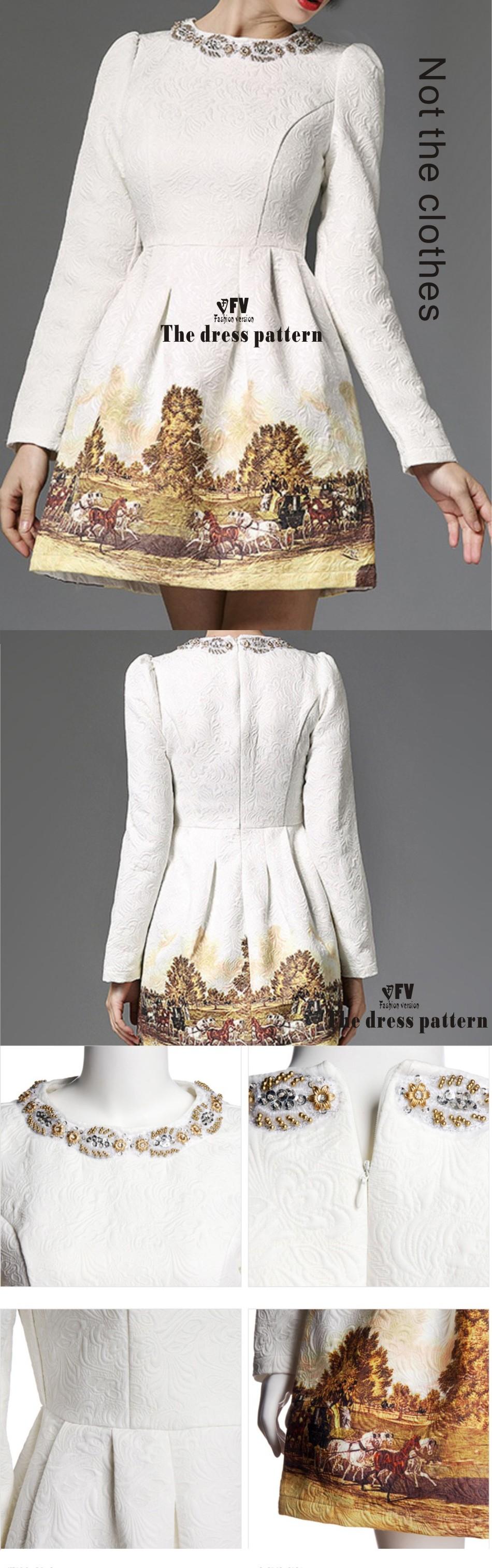 ٩(^‿^)۶Ropa DIY el vestido Vestidos Costura patrón de corte de ...