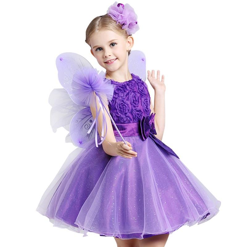 Princesa de Navidad Vestido de niña de las flores SummerTutu boda ...
