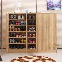 home furniture solid teak wood shoe storage cabinet design ...
