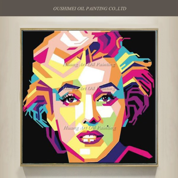 Style Hand Painted Famous Marylin Monroe Pop Art