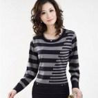 2016 Spring Autumn Long Pullovers Women Sweater Dress High