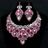 Aliexpress.com : Buy White Gold Plated Bridal Jewelry Sets ...