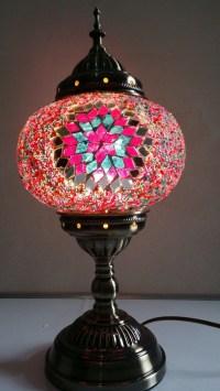 Turkish-Moroccan-Handmade-Mosaic-Glass-Table-Lamp-Hand ...