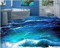 Custom photo floor wallpaper 3D stereoscopic 3D ocean ...